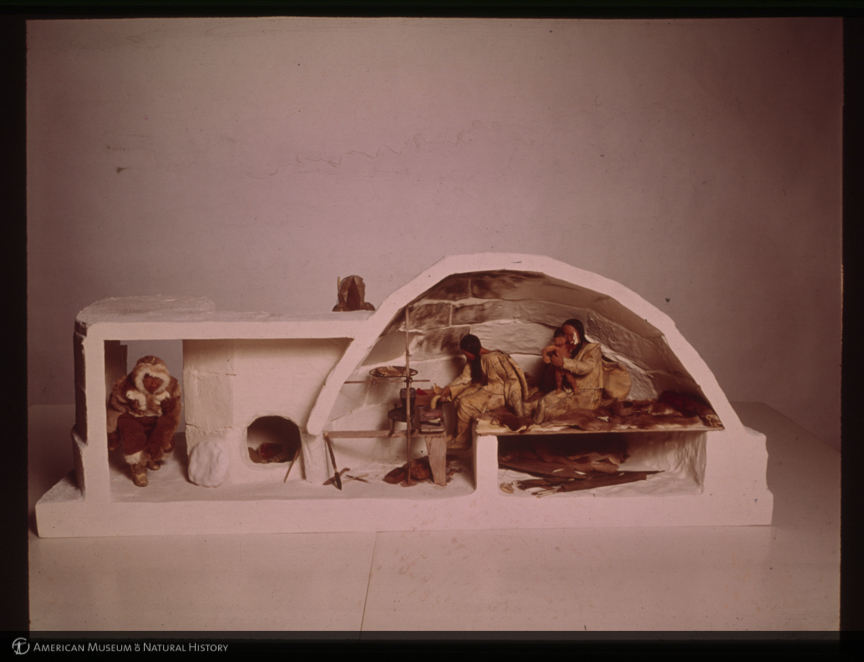 AMNH Digital Special Collections | Winter house interior ...