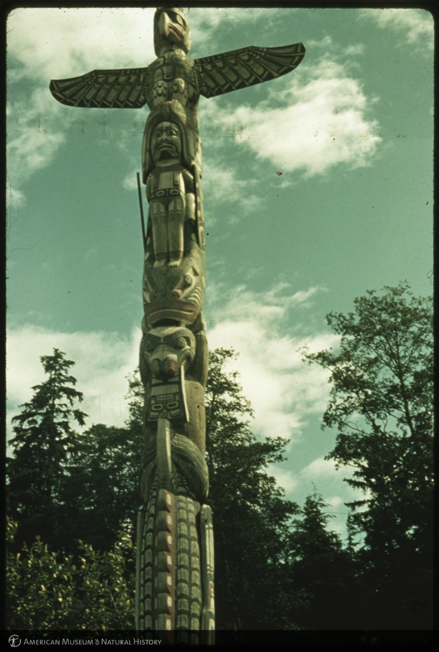 Kwakiutl Totem Poles Cemetery Totem Pole With